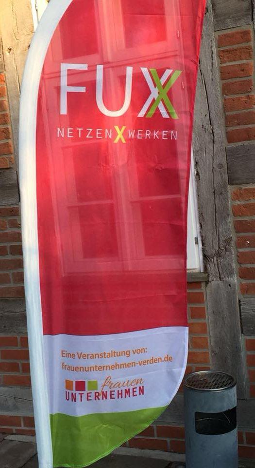 Beachflag FUX für Frauenunternehmen
