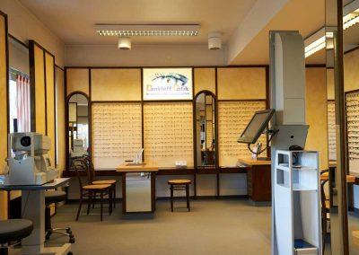 Vorher Raumansicht Optiker Dankleff