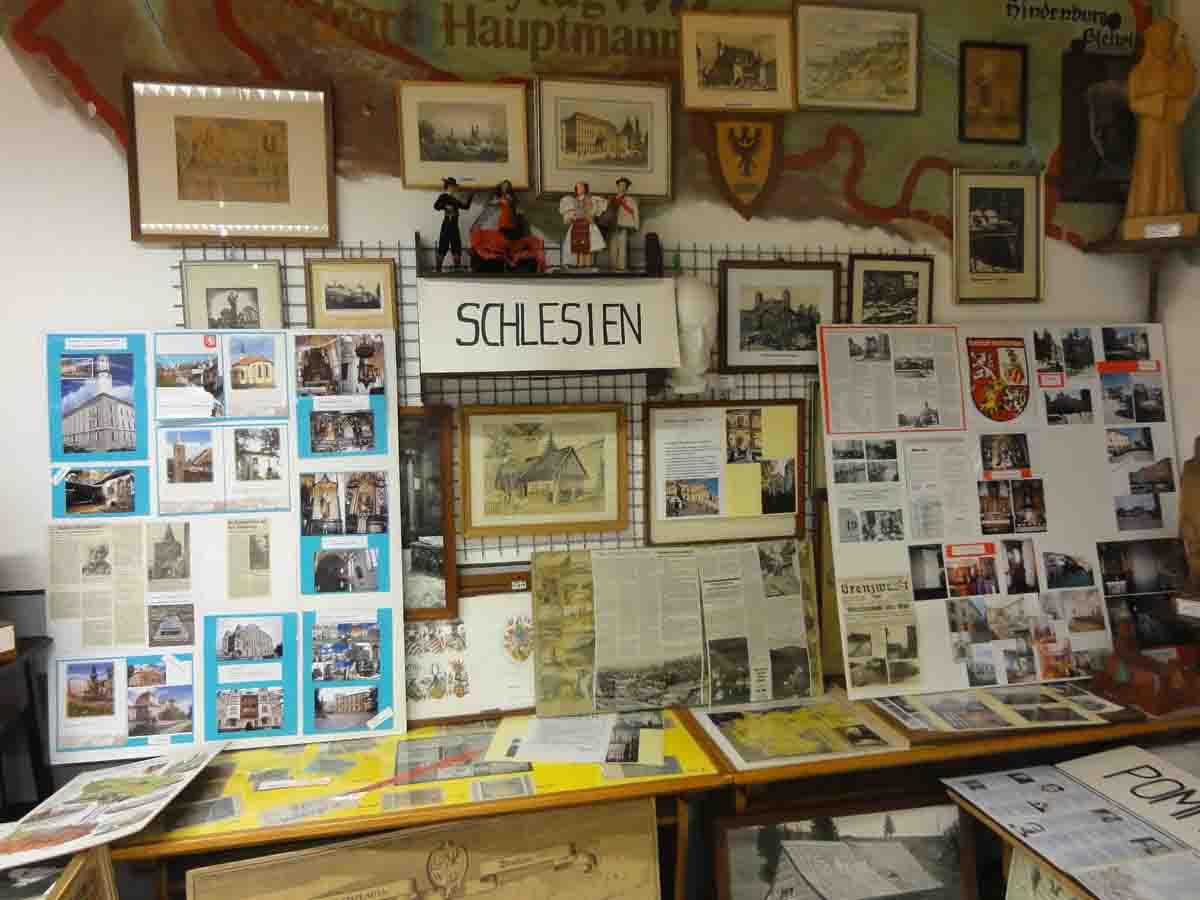 Ausstellungsbereich zu Schlesien vorher Heimatstube Goldenstedt