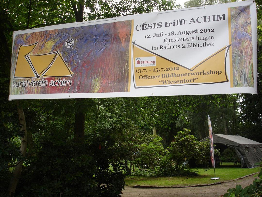 Banner Aktion 2012 Kunstverein Achim