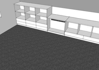 Büro Ablagebereich in der Dachschräge
