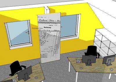 Visualisierung Büro Mitarbeiter