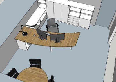 Plan für Büro mit Besprechungsbereich Ansicht 01