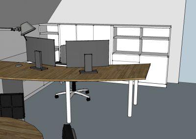 Plan für Büro mit Besprechungsbereich Ansicht 02