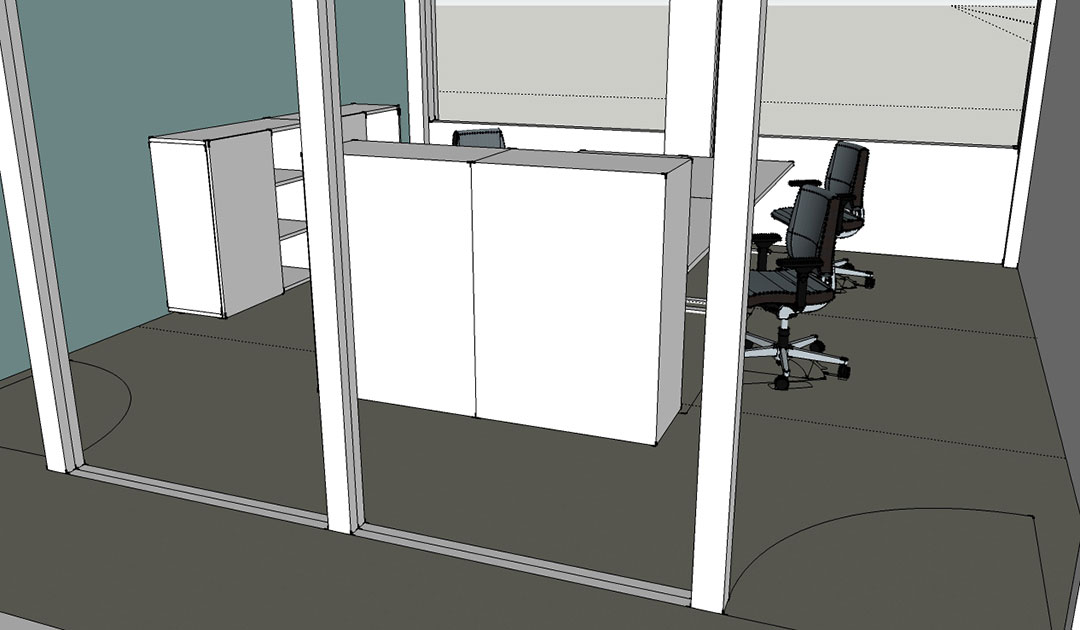 Visualisierung Büro