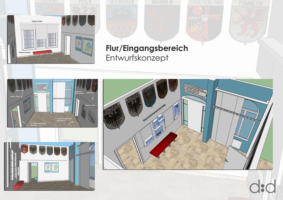 Collage Entwurfskonzept Eingangsbereich Goldenstedt