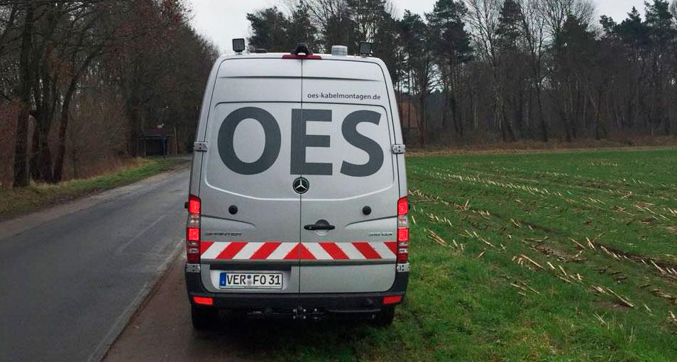 Ergebnis Autobeklebung OES kabelmontagen Rückansicht
