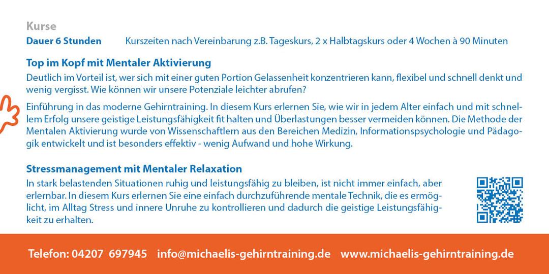 Informationsflyer Petra Michaelis 2018