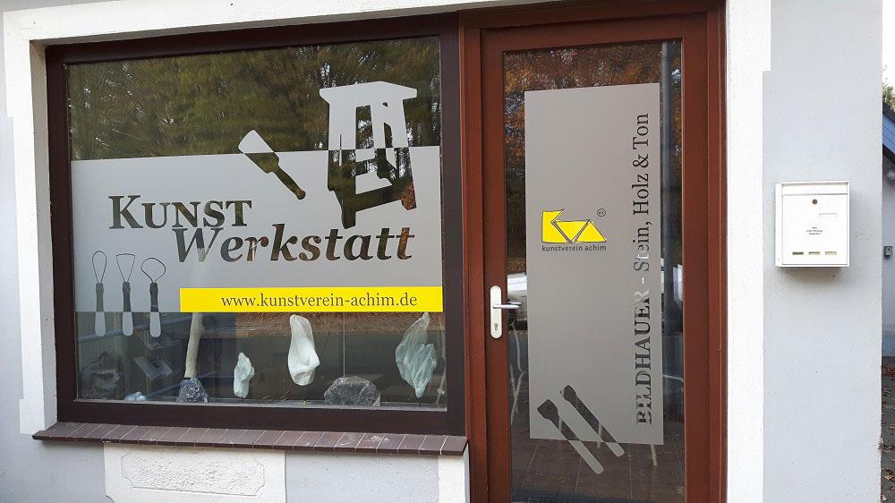 Fensterfolierung Kunstwerkstatt der Kunstschule Achim