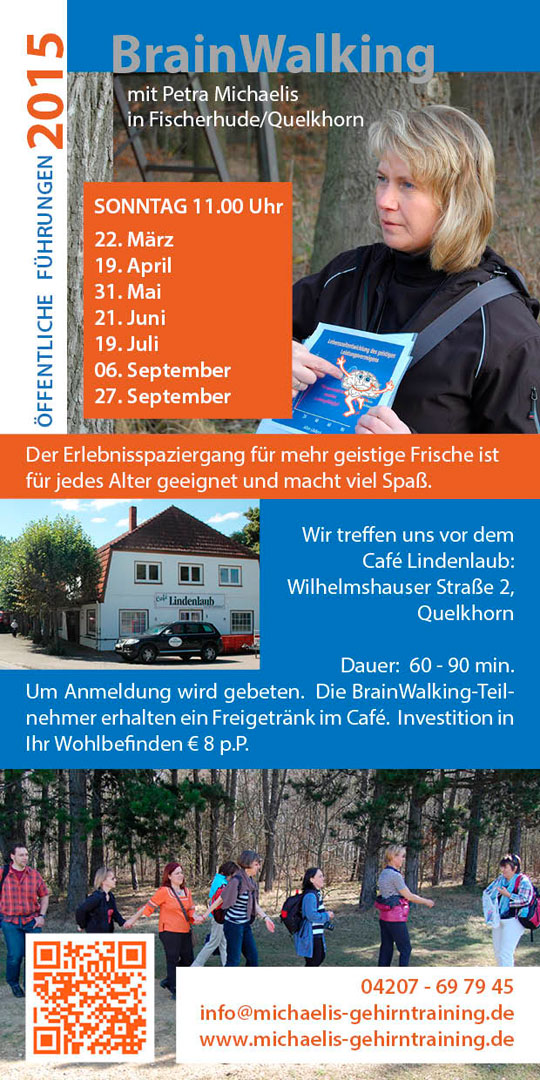 Flyer Termine 2015 Brainwalking Petra Michaelis