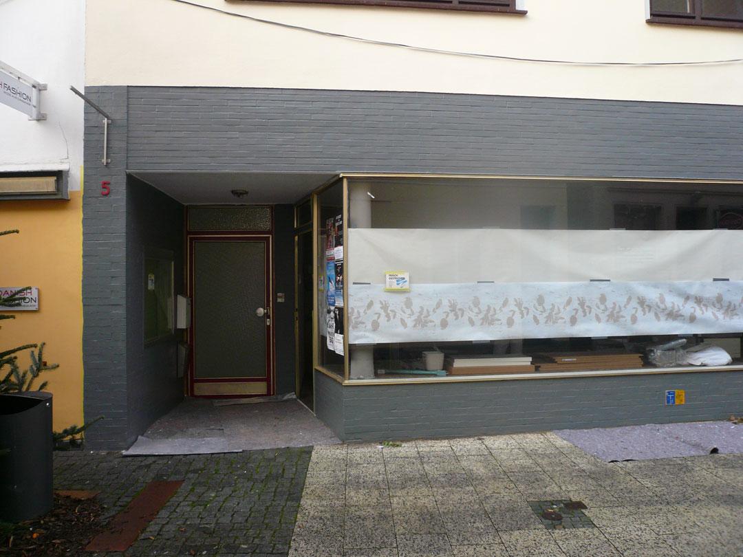 Renovierungsfortschritt Fassade Boutique Schmiede Nr.5