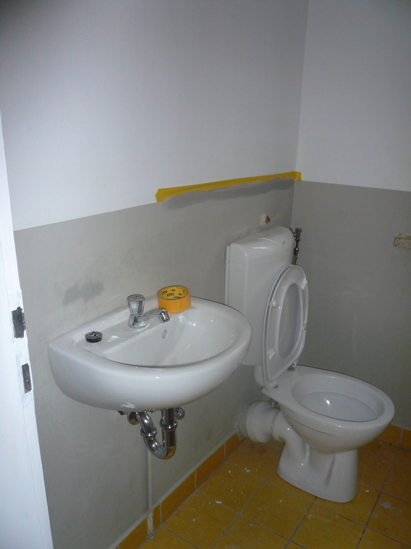 Renovierungsfortschritt WC Boutique Schmiede Nr.5