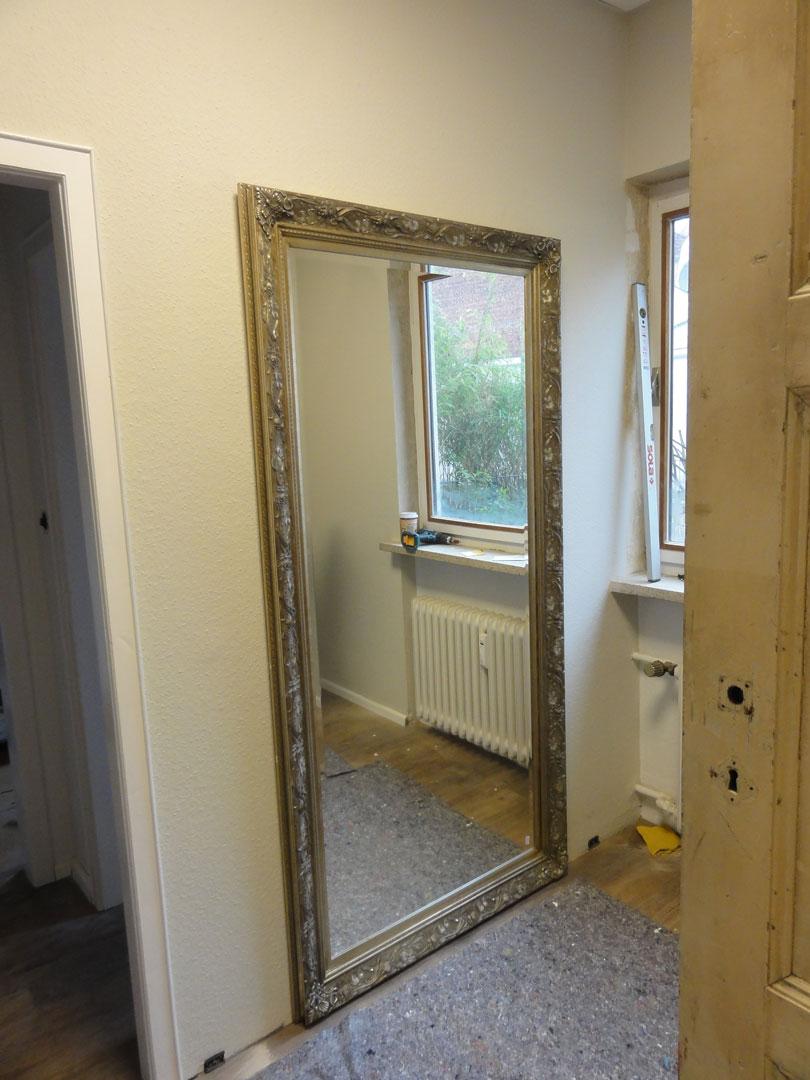 Fundstück Spiegel für die Umkleide Schmiede Nr.5