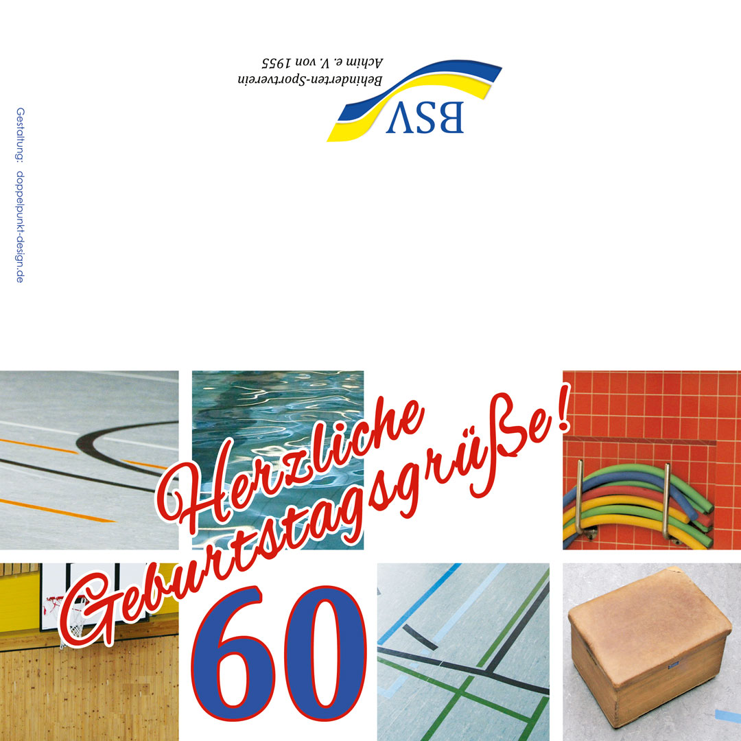 Geburtstagskarte 60 Jahre BSV Achim e.V. aussen