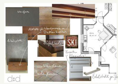 Moodboard Küche alpin