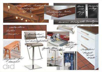 Konzept - Materialien für Küche