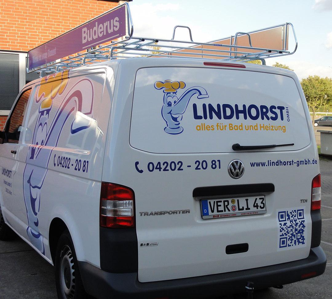 Rückseitenansicht Diensttransporter der Firma Friedrich Lindhorst GmbH