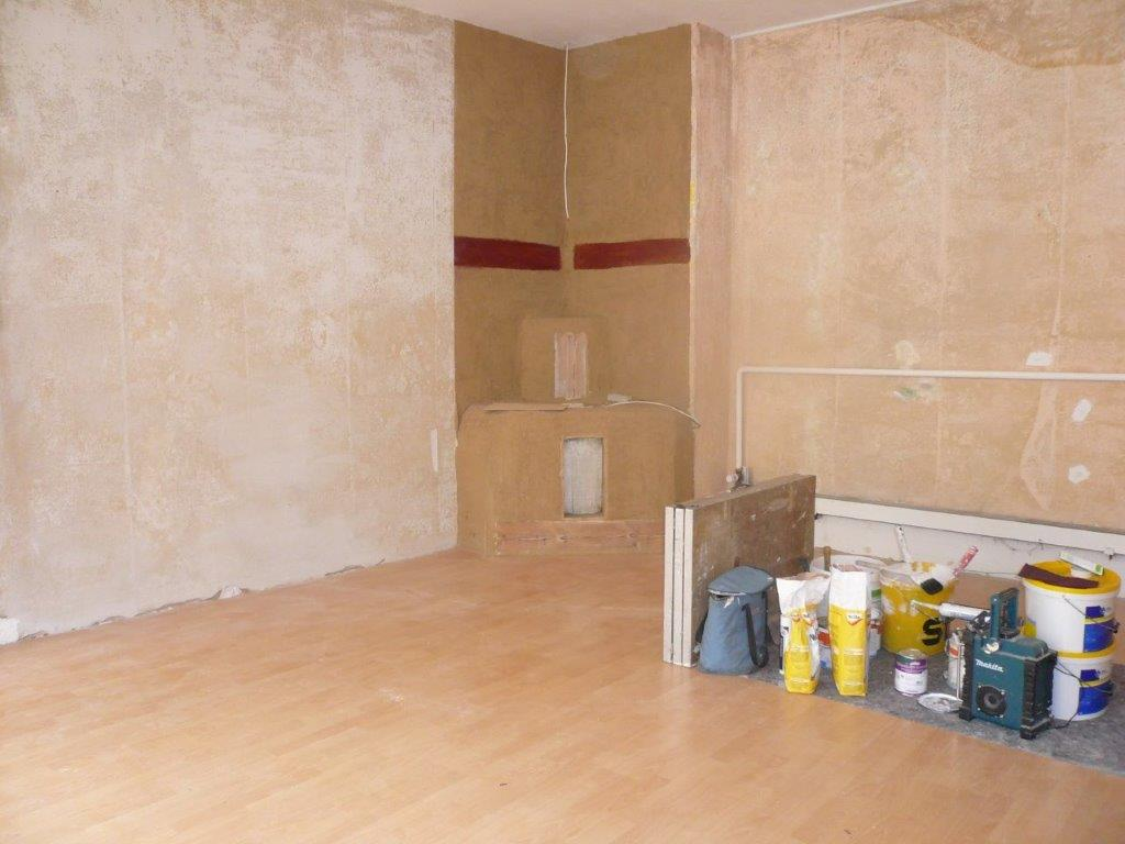 Bei der Renovierung - Raum für Schmiede Nr.5