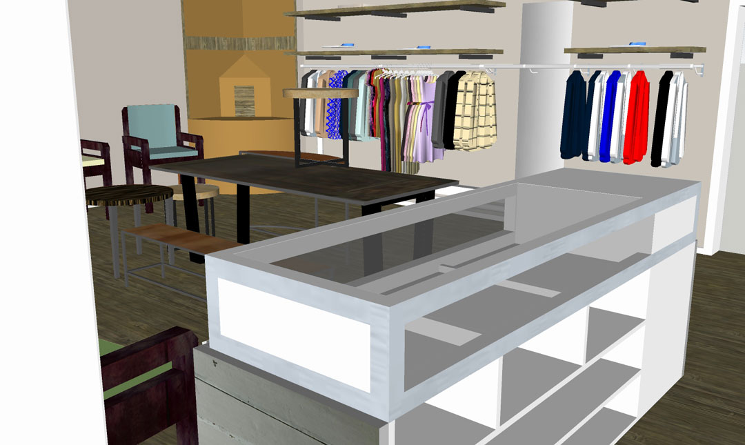 Visualisierung Verkaufsraum Schmiede Nr.5