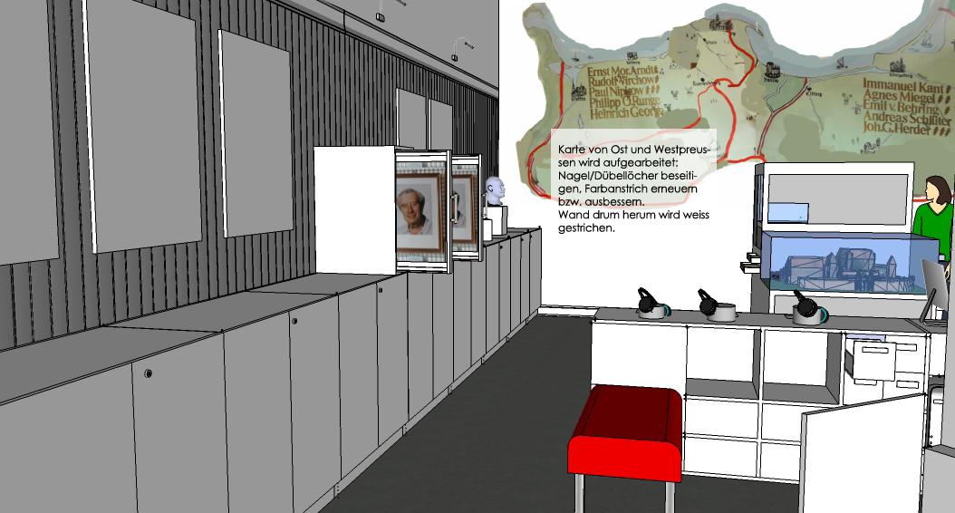 Visualisierung Ausstellungsraum Heimatstube Goldenstedt