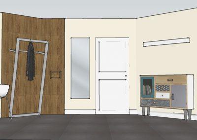 Visualisierung Flur Garderobe