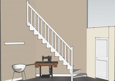 Visualisierung Flur Treppenaufgang