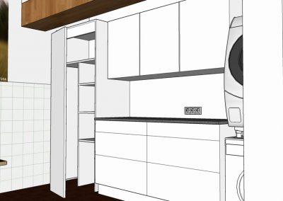 Visualisierung Hauswirtschaftsraum Schrank
