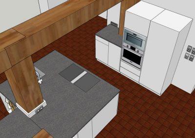 Visualisierung Küche Geräteschrankmodul