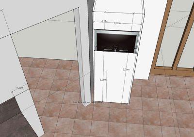 Visualisierung Modul Mikrowelle-Kühlschrank