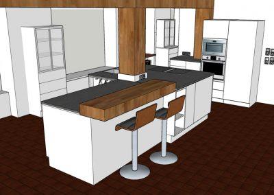 Visualisierung Küche 03 Tresen
