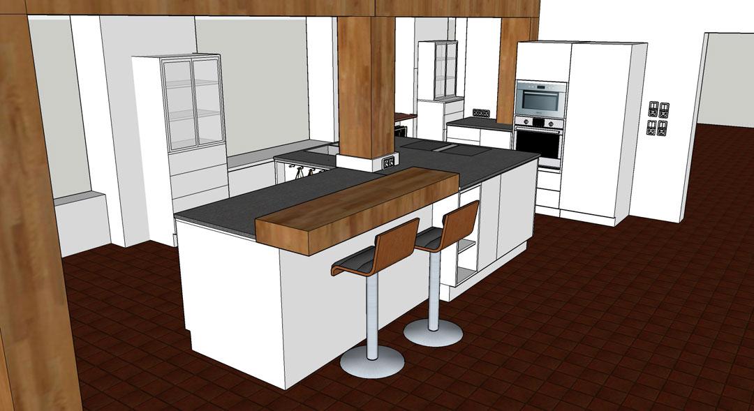 Küche Mit Tresen - House Interior - joecutbirth.com