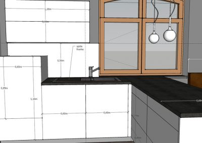 Visualisierung Küche Arbeitsbereich mit Spüle