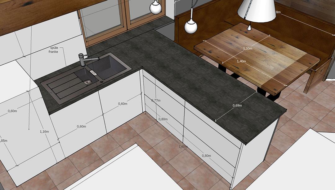 Kuche Neugestaltung Privat Doppelpunkt Design