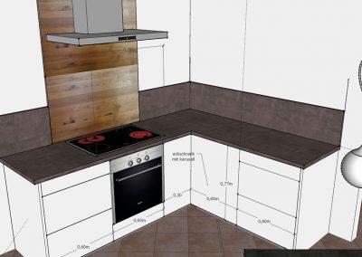 Visualisierung Küche Kochbereich