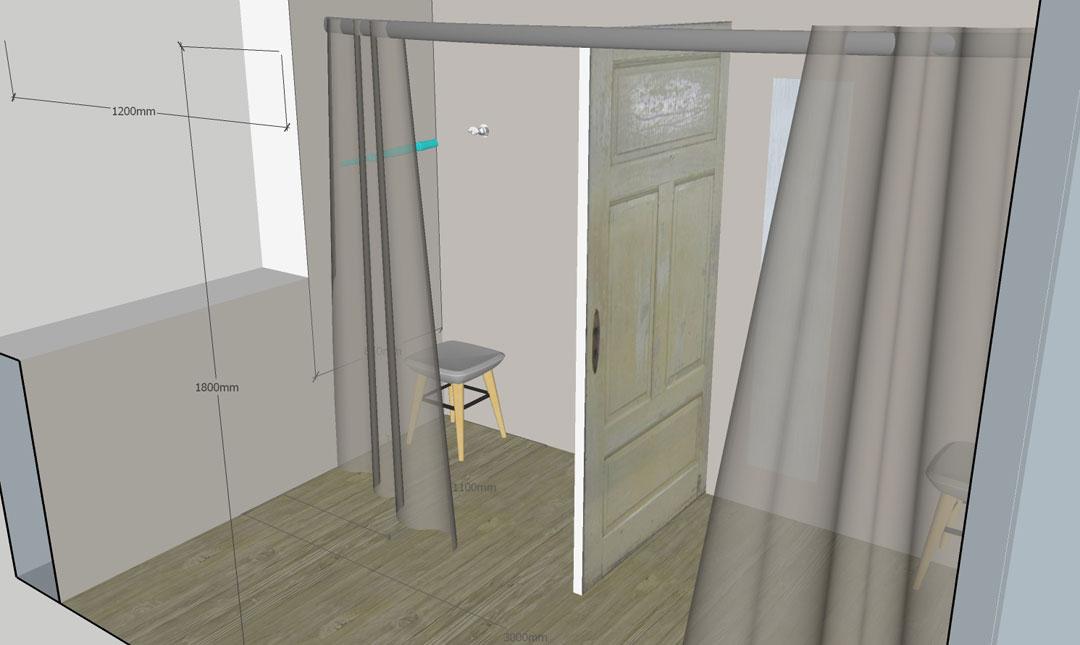 Visualisierung Umkleide Schmiede Nr.5