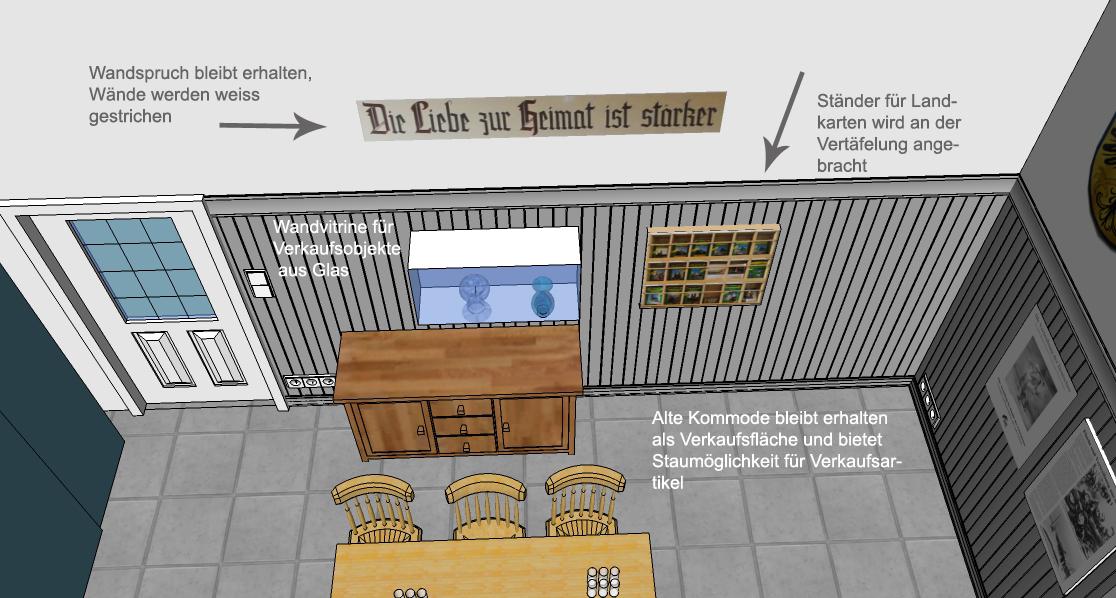 Visualisierung Veranstaltungsraum Heimatstube Goldenstedt