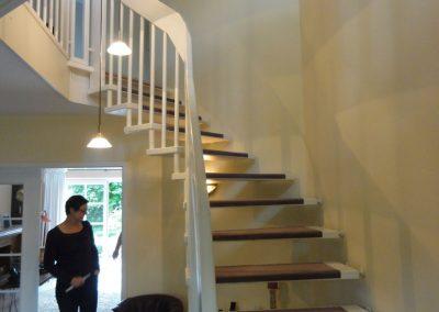 Vorher Flur Blick von der Treppe aus