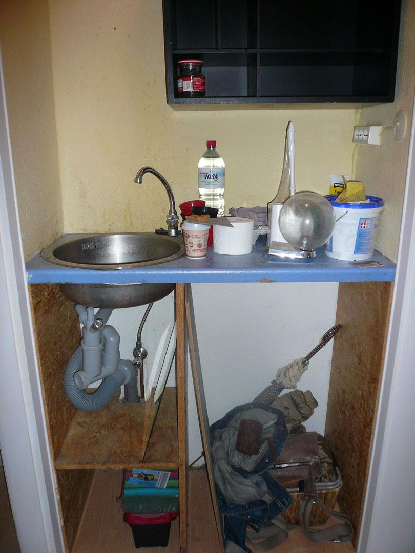 Vorher - Blick Küchenzeile