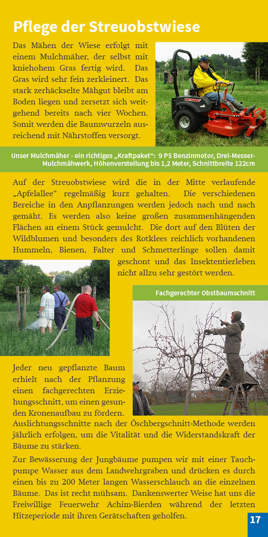 Broschüre Seite 17 Pflege Streuobstwiese Achimer Marsch