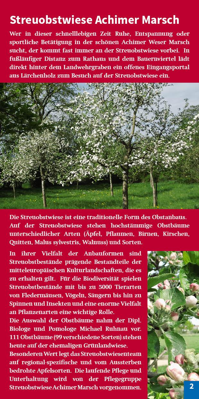 Broschüre Seite 12 Vorstellung Streuobstwiese Achimer Marsch