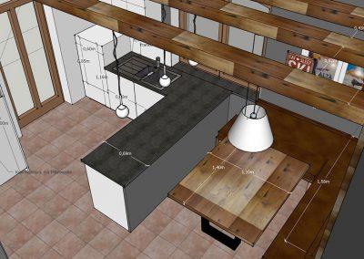 doppelpunkt design Visualisierung Küche von oben