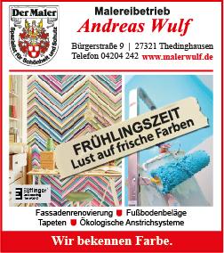 anzeige wulf 95 x 98 mm was wann wo thedinghausen